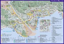 Подробная туристическая карта города Локарно с достопримечательностями