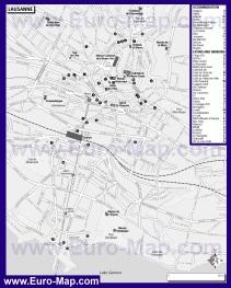 Карта отелей и ресторанов Лозанны