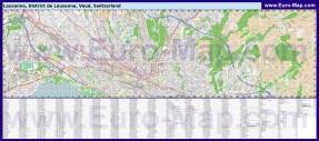 Подробная карта города Лозанна