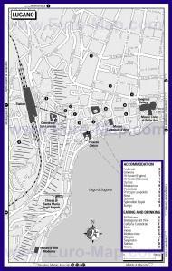 Карта отелей и ресторанов Лугано