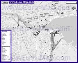 Карта отелей и ресторанов Люцерна