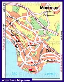 Карта Монтрё с достопримечательностями