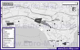 Карта отелей и ресторанов Монтрё