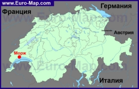 Морж на карте Швейцарии