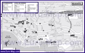 Карта отелей Невшателя