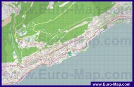 Подробная карта города Невшатель