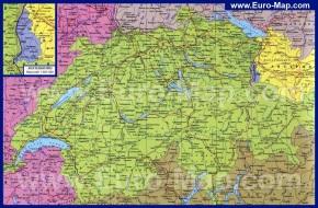Подробная карта Швейцарии на русском языке