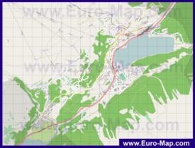 Подробная карта города Санкт-Мориц