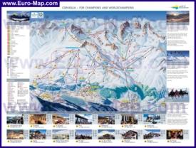 Туристическая карта горнолыжного курорта Санкт-Мориц со склонами