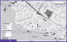 Карта отелей Веве