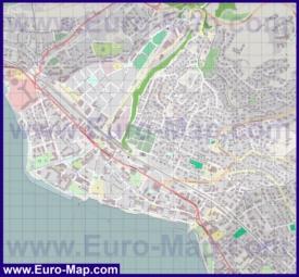 Подробная карта города Веве