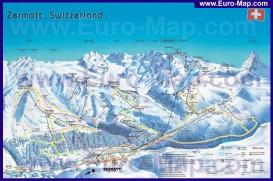 Карта горнолыжный трасс Церматта