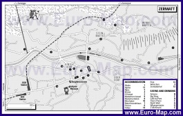 Карта отелей и ресторанов Церматта