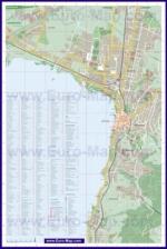 Подробная туристическая карта города Цуга с отелями и достопримечательностями