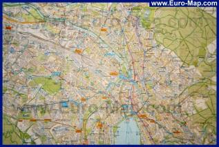 Подробная карта Цюриха
