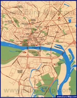 Карта достопримечательностей Братиславы на руссом языке