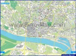 Подробная туристическая карта Братиславы
