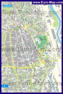 Подробная карта города Кошице
