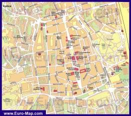 Туристическая карта Кошице с достопримечательностями