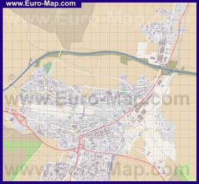 Подробная карта города Попрад