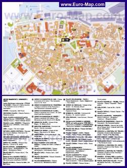 Туристическая карта Копера с достопримечательностями