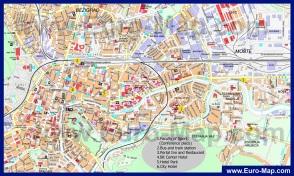 Подробная карта города Любляна