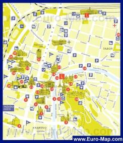 Туристическая карта Любляны с достопримечательностями