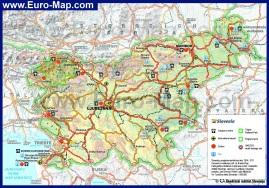 Подробная карта дорог Словении
