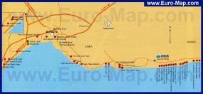 Карта Анталии с отелями