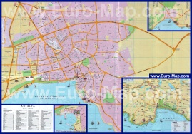 Подробная карта города Анталия с отелями