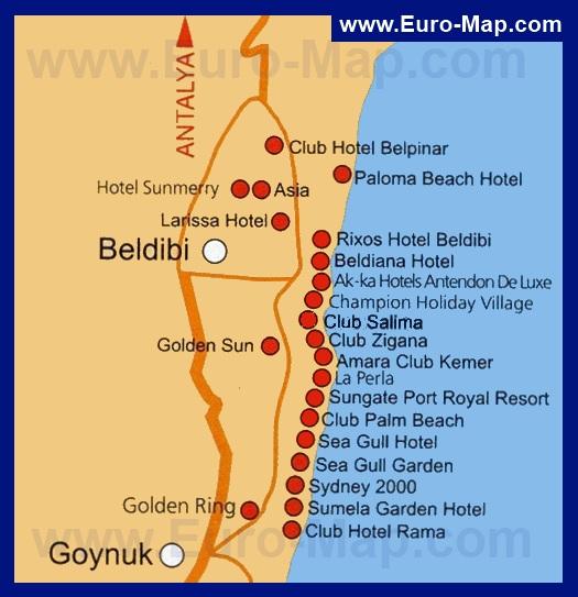 Карта Бельдиби