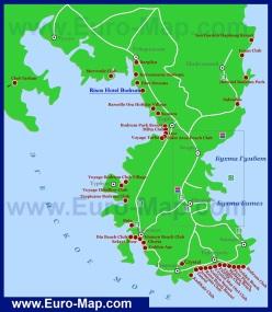 Карта отелей Бодрума