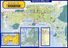 Подробная карта города Бодрум