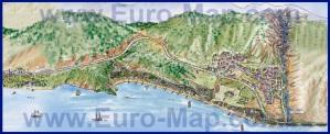 Подробная туристическая карта курорта Гейнюк