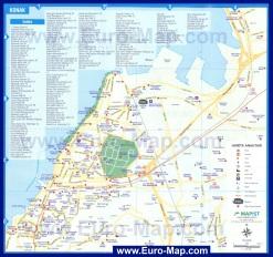 Подробная карта города Измир