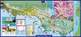 Подробная карта курорта Кушадасы