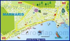 Карта Мармариса с достопримечательностями