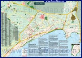 Подробная карта Мармариса с отелями