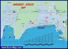 Туристическая карта города Мармарис