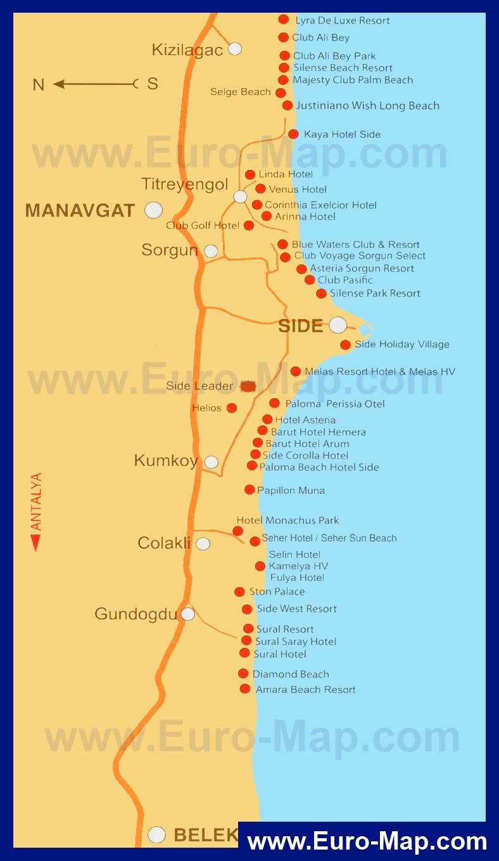 Карта отелей мармариса турция
