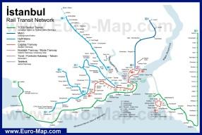 Карта метро Стамбула (Схема)