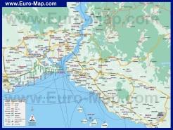 Карта районов Стамбула