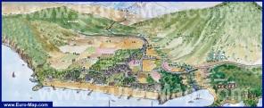 Подробная туристическая карта Текирова