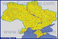 Автомобильная карта дорог Украины