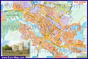 Подробная карта города Белая Церковь