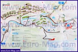Туристическая карта курорта Буковель с отелями