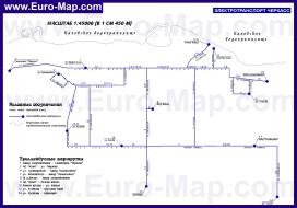 Схема маршрутов городского транспорта Черкасс