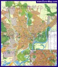 Подробная карта города Чернигов