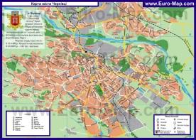 Подробная карта города Черновцы