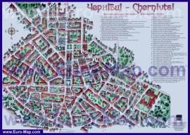Туристическая карта Черновцов с достопримечательностями